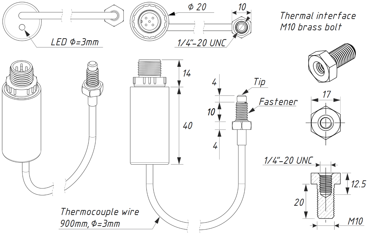 exgaust gas temp sensor drawing